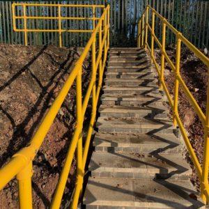 GRP walkway handrails